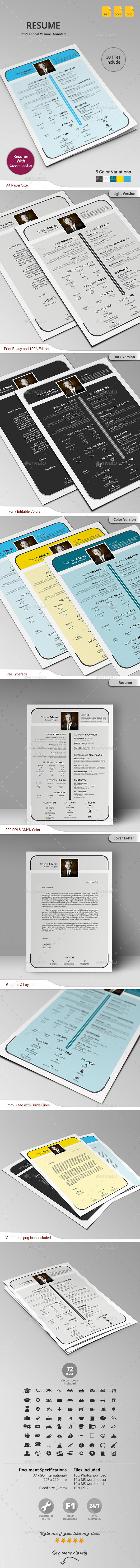 GraphicRiver Resume 10763544