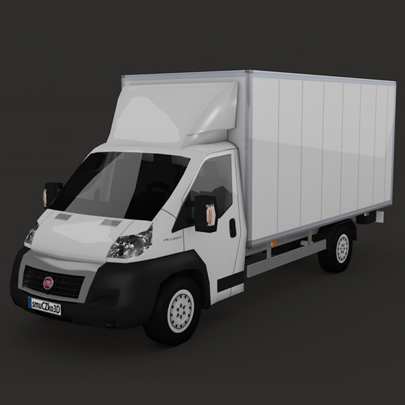 LOW POLY FIAT DUCATO BOX - 3DOcean Item for Sale