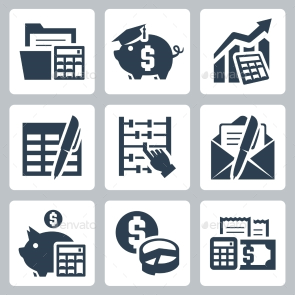 GraphicRiver Budget and Accounting Icons 10763949
