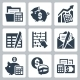 Budget and Accounting Icons - GraphicRiver Item for Sale