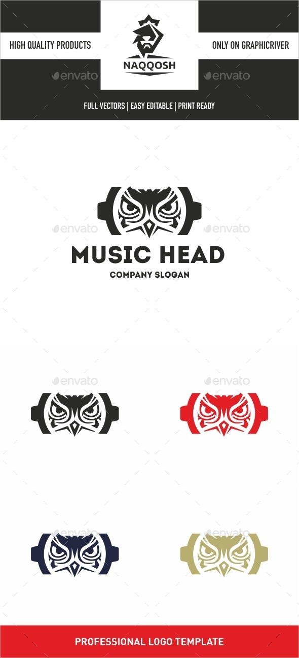 GraphicRiver Music Head 10763955