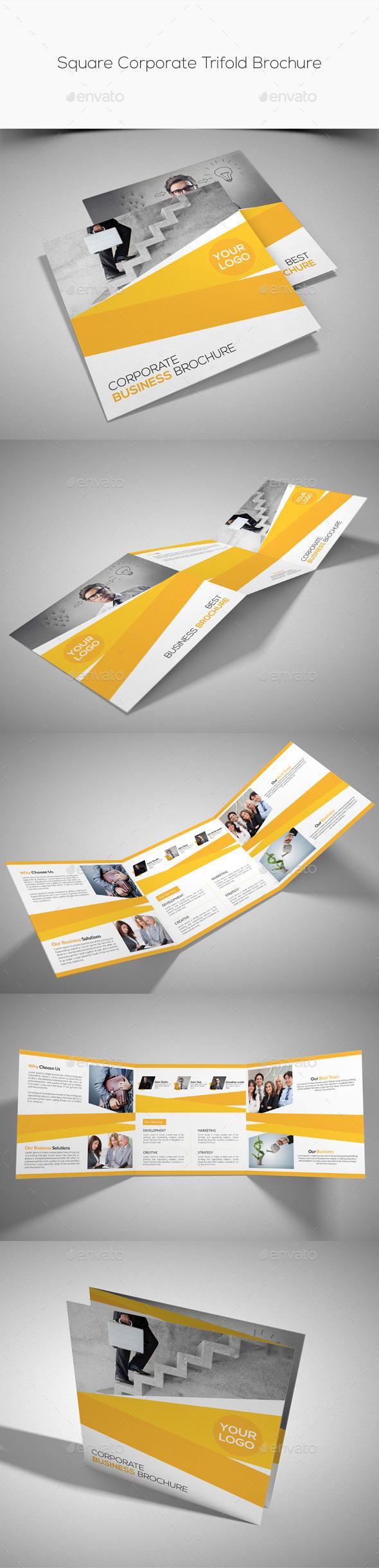 GraphicRiver Square Corporate Trifold Brochure 10763971