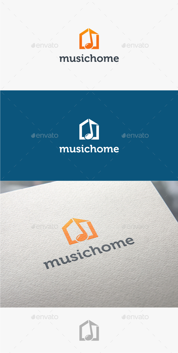 GraphicRiver Music Home Logo Template 10763976