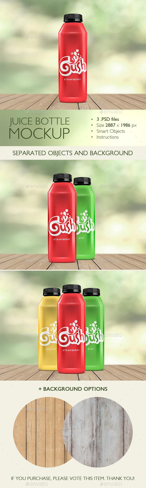 GraphicRiver Juice Bottle Mockup 10741466