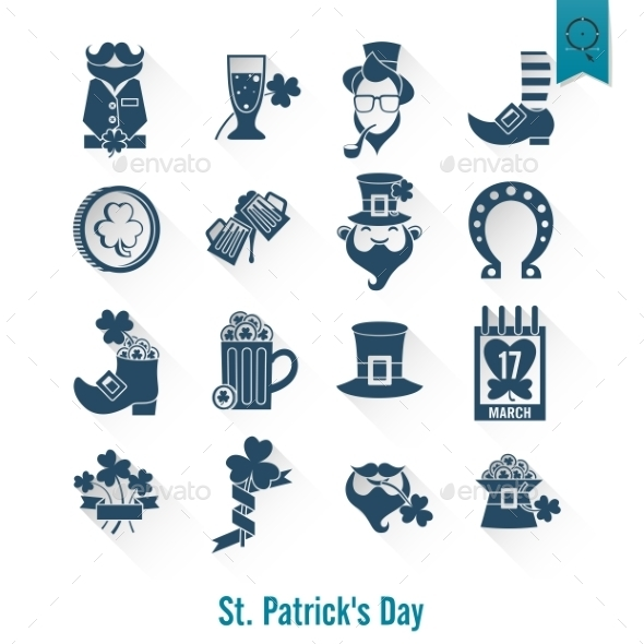 GraphicRiver Saint Patricks Day Isolated Icon Set 10764248