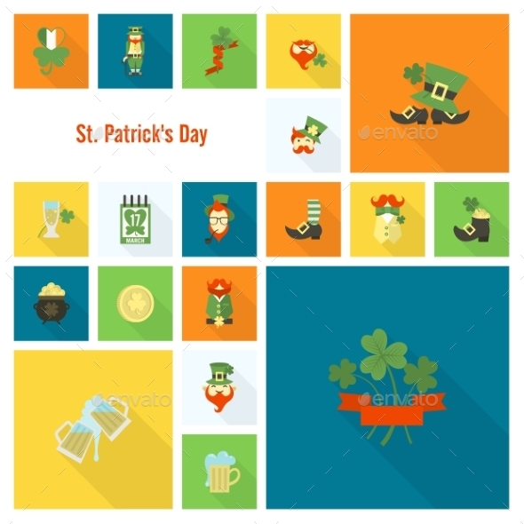 GraphicRiver Saint Patricks Day Icon Set 10764275