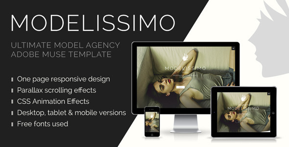 Modelissimo - Model Agency Muse Template - Creative Muse Templates