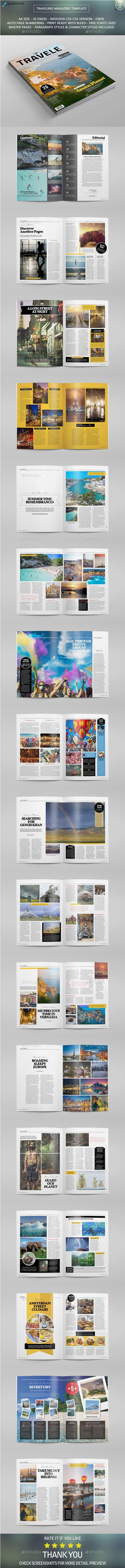 GraphicRiver Traveling Magazine Template 10764387