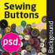 Sewing Buttons Isolated Backround