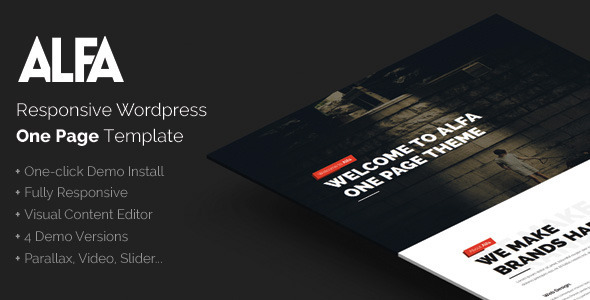 ThemeForest Alfa Responsive Parallax WordPress Theme 10764656