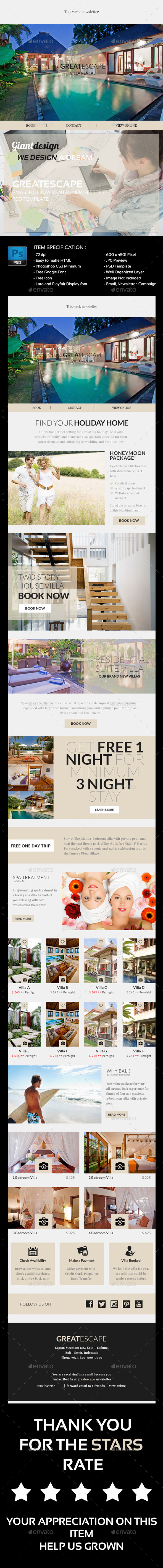 GraphicRiver Great Escape Psd Email Newsletter 10764872