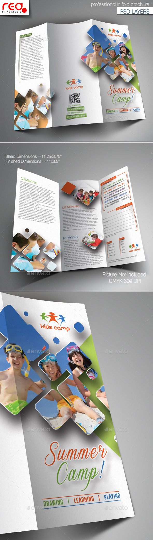 GraphicRiver Summer Camp Trifold Brochure Template 1 10764967