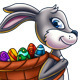 Easter Bunny Carrying a Basket of Eggs - GraphicRiver Item for Sale