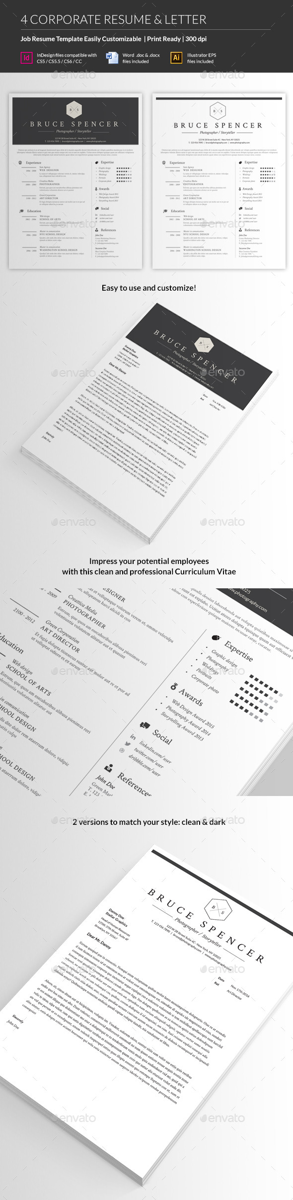 GraphicRiver Job Resume Template 10765072