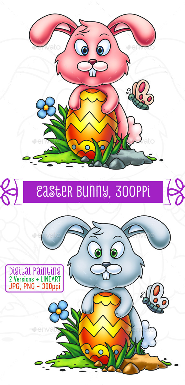 GraphicRiver Cute Little Easter Bunny 10753083