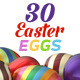30 Easter Eggs 3D Set - GraphicRiver Item for Sale