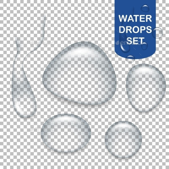 GraphicRiver Transparent Water Drops 10765441