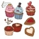 Doodle Set Elements with Cookies and Cupcakes - GraphicRiver Item for Sale
