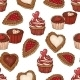 Seamless Background with Cookies and Cupcakes - GraphicRiver Item for Sale