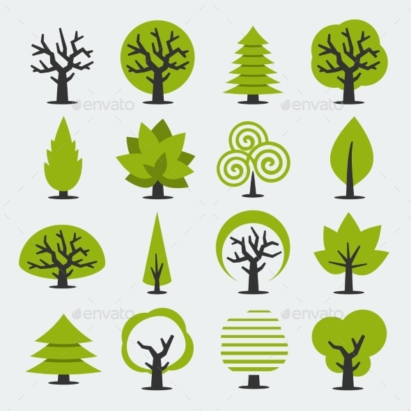GraphicRiver Set of Trees 10765543