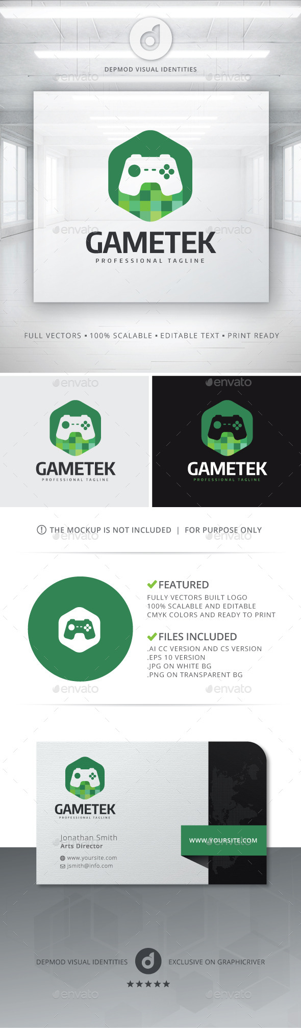 GraphicRiver Gametek Logo 10765571