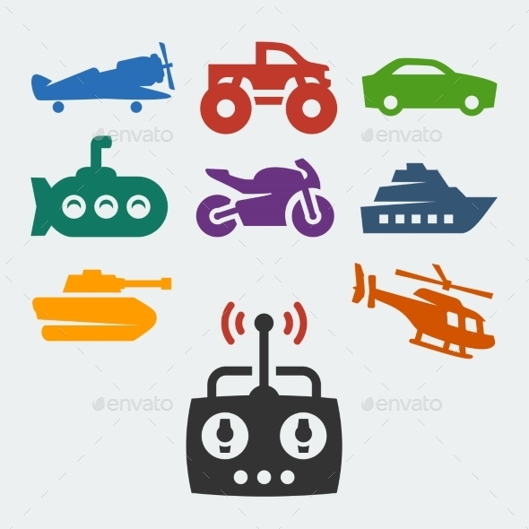 GraphicRiver Remote Control Toys 10765587