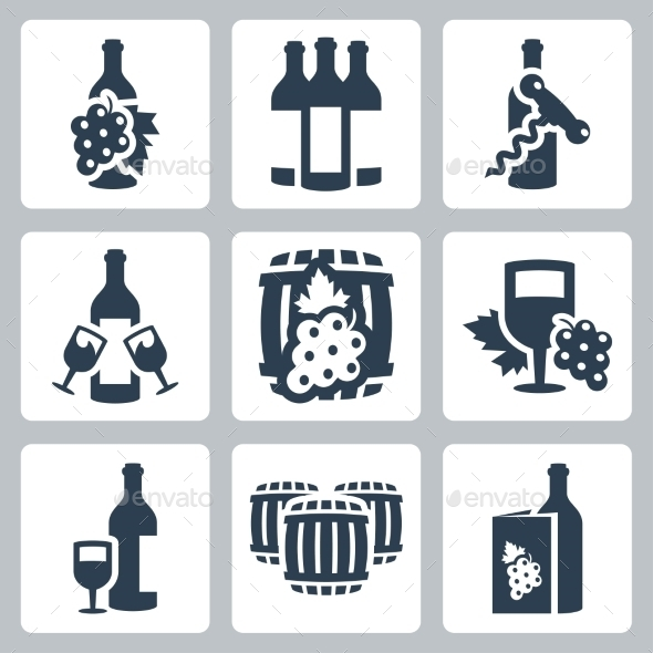 GraphicRiver Vector Winery Icons Set 10765624