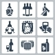 Vector Winery Icons Set