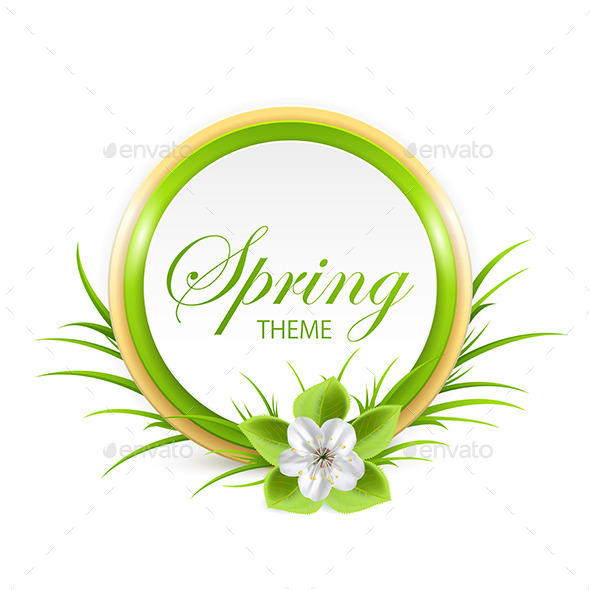GraphicRiver Spring Card 10765732