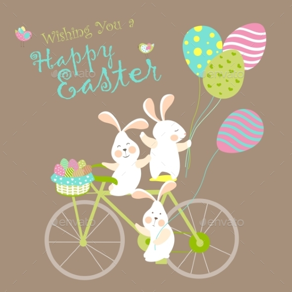 GraphicRiver Easter Bunnies and Easter Eggs 10765846
