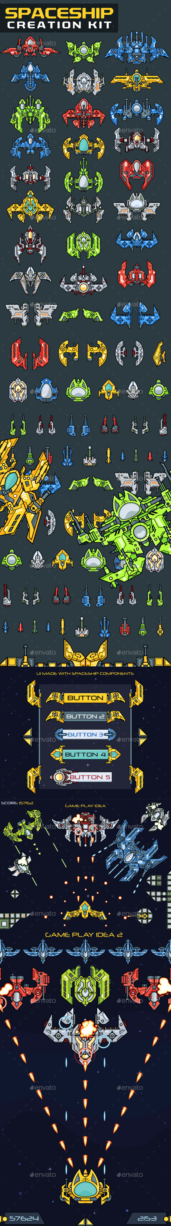GraphicRiver Spaceship Creation Kit 10766100