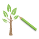 Pencil Draws Green Eco Tree