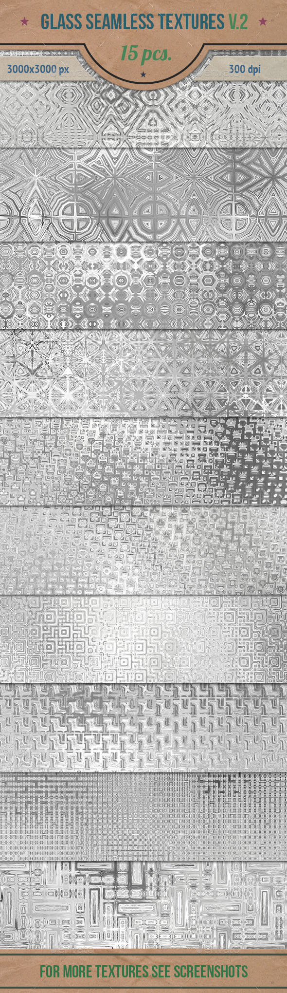 GraphicRiver Glass Seamless HD Textures Pack v.2 10766265