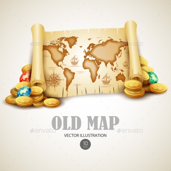 GraphicRiver Old Map 10766396