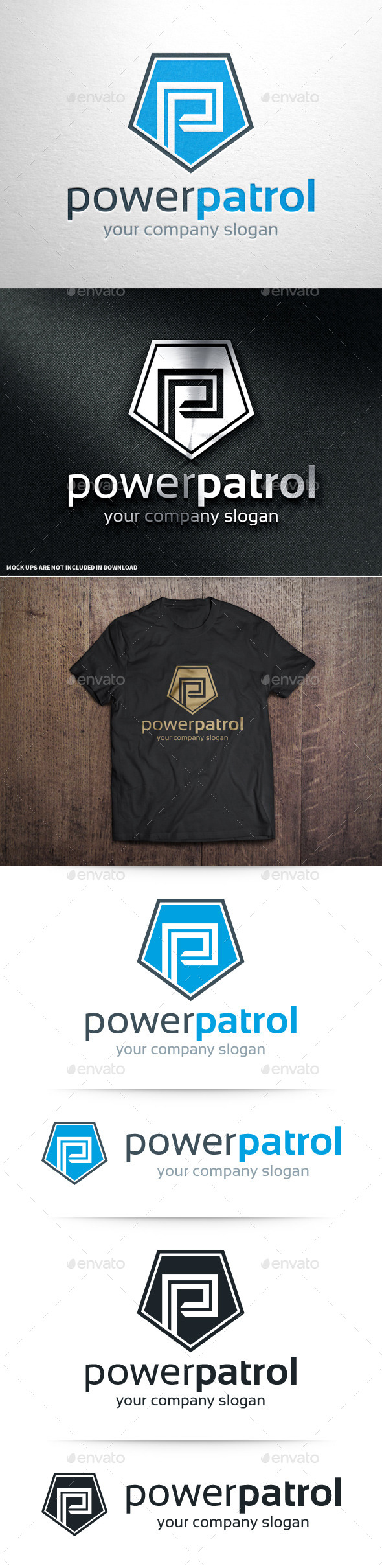 GraphicRiver Power Patrol Letter P Logo 10766507