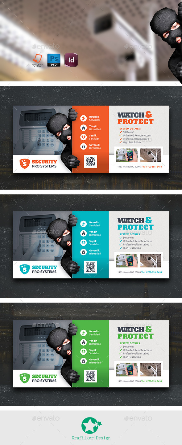 GraphicRiver Security Systems Billboard Templates 10766850