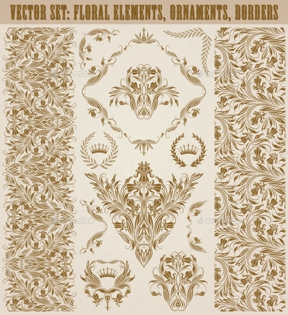 GraphicRiver Set of Damask Ornaments 10766951