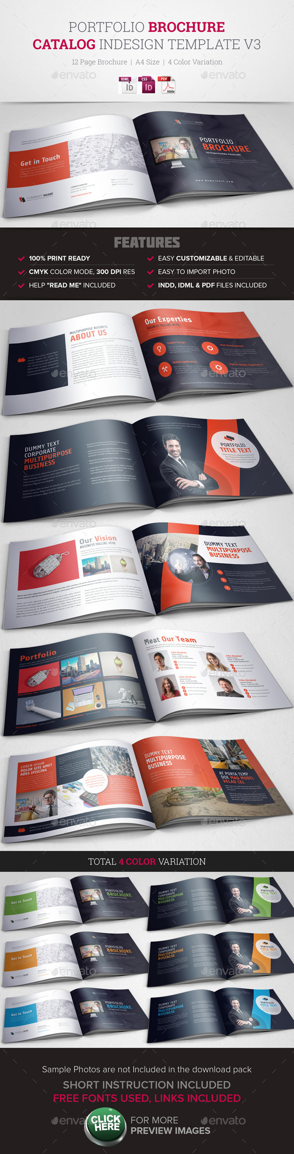 GraphicRiver Portfolio Brochure InDesign Template v3 10766959