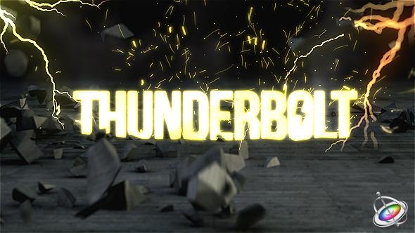 Thunderbolt Reveal Apple Motion