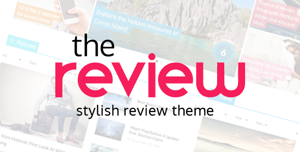 ThemeForest The Review Stylish Review & Magazine Theme 10767023