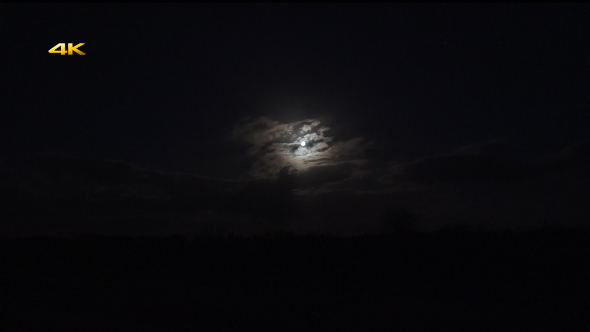VideoHive Full Moon and Clouds in Night Sky 10767062