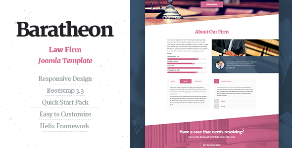 ThemeForest Baratheon Law Firm Joomla Template 10767086