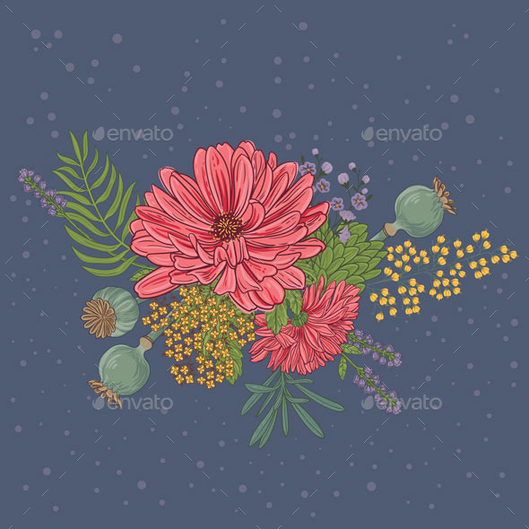 GraphicRiver Blooming Flowers 10767333