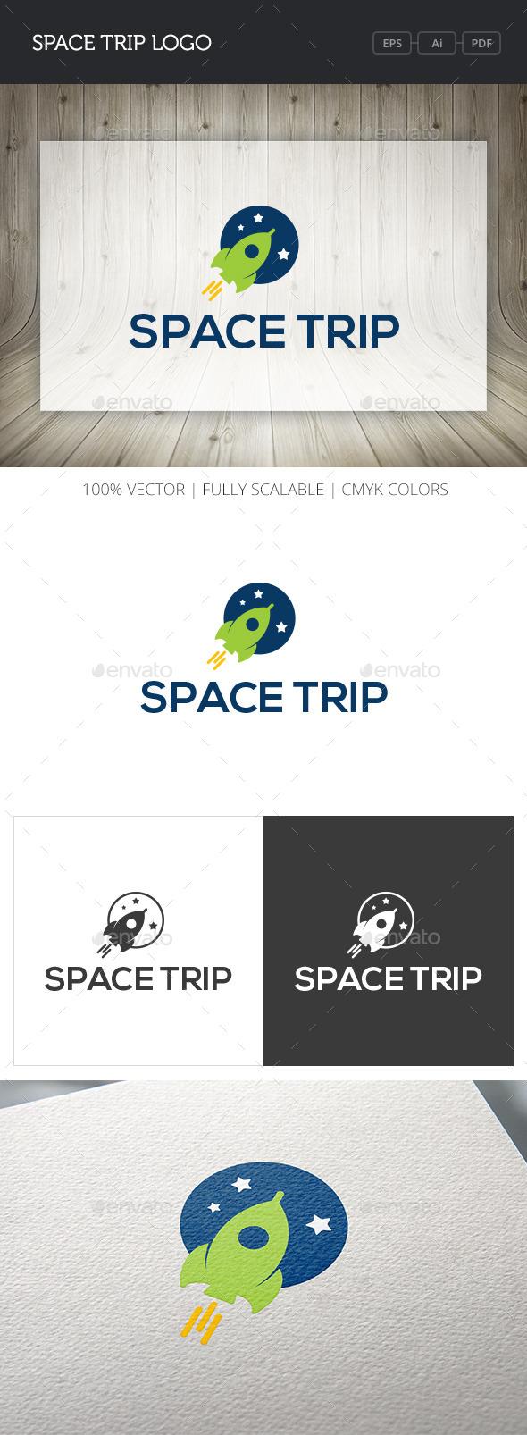 GraphicRiver Space Trip Logo 10767390
