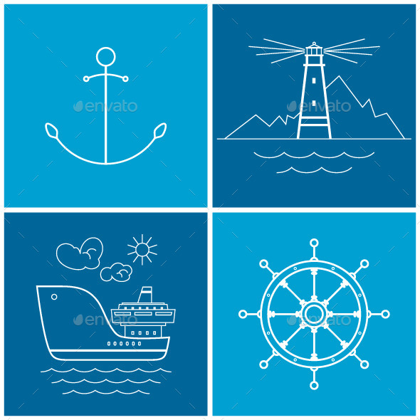 GraphicRiver Set of Maritime Icons 10767607