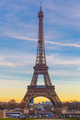 Eiffel tower at winter suset in Paris, France - PhotoDune Item for Sale