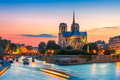 Cathedral of Notre Dame de Paris at sunset, France - PhotoDune Item for Sale
