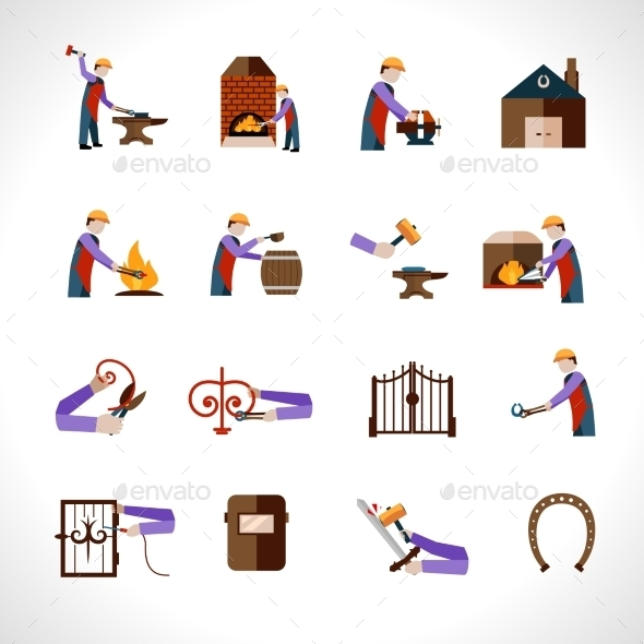 GraphicRiver Blacksmith Icons Set 10767858