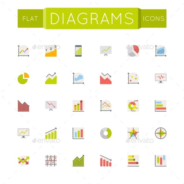 GraphicRiver Vector Flat Diagrams Icons 10768076