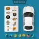 Auto Service Infographics - GraphicRiver Item for Sale